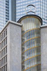 Höher (Scoobay) Tags: wendeltreppe mercedes deutschland fassade hochhaus germany gold star frankfurt