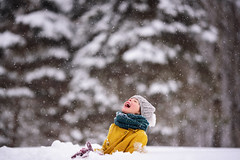 Kids don't seem to mind getting snowed in (Elizabeth Sallee Bauer) Tags: feburary nature blizzard bright child childhood children chld cold colorful extremeweather family fun girl happiness kid outdoors outside playing snow snowfall snowing together weather white winter