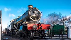 Rothley (Peter Leigh50) Tags: great gcr gwr central railway winter gala steam locomotive exgwr 78xx manor class rothley station sky people railroad rail train trees track fuji fujifilm xt2