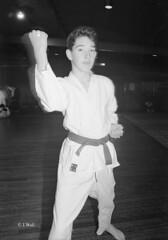 Katsu Karate 1987 pic12 (walljim52) Tags: katsu karate burntwoodrecreationcentre 1987 sport man woman child dojo mono blackandwhite
