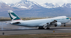 B747 | B-LJF | ANC | 20150510 (Wally.H) Tags: boeing 747 boeing747 b747 bljf cathaypacificairways cargo anc panc anchorage airport