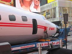 2019 Celebration of Retro TWA Hotel - Wingless Plane Times Square 4504 (Brechtbug) Tags: 2019 celebration retro twa hotel brooklyn wingless 1958 lockheed constellation connie l1649a starliner airplane visits times square before heading trans world airlines new yorks john f kennedy international airport known york anderson field commonly idlewild city march 23rd nyc 02232019