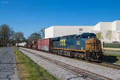 CSX Q541 at Cartersville (travisnewman100) Tags: csx train railroad rr freight manifest q541 wa subdivision atlanta division ge locomotive es44ah cartersville ga georgia