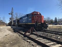 CN Crossing Waukegan Road Lake Bluff IL March 25 2019 (Tom J. Burke) Tags: eje cn northchicago lakebluff railroad train
