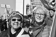 A bit harsh.... (markwilkins64) Tags: portraiture streetportraits portrait streetphotography brexit glasses sunhglasses aprilfools signs flags protesters demonstrators london westminster housesofparliament ladies women smiles sunny bright naturallight markwilkins humour funny humorous europe hat hats activists happy friends humanity