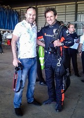 With the very friendly Mr Nicolas Ivanoff... if you don't know him.  I only suggest that you take a look at Red Bull Air Race... (BadGunman) Tags: french france voltige aerobatic hamilton edge extra airrace race fly air ivanoff redbullairrace redbull aviation