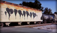 dimnd (timetomakethepasta) Tags: dimnd freight train graffiti art grainer hopper aex