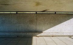 Milton Keynes (fraser_west) Tags: film 35mm minimal street underpass analog kodak architecture sunlight city uk light concrete canon eos3 wetheconspirators miltonkeynes 2019