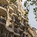 Desginerbalkone am UNESCO-Kulturstätte Haus Casa Milà aus Schmiedeeisen sind Unikate und wurden von Josep Maria Jujol entworfen