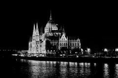 Budapest (robertoburchi1949) Tags: blackwhite bianconero budapest ungheria notturno palace architecture architettura cityscape city