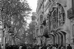 Casa Batlló - Passeig de Gracia (fxdx) Tags: casa batlló barcelona fz1000 mono monochrome bw nb gaudi passeig de gràcia