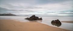 Lusty Glaze Beach (Nick.Coombs) Tags: cornwall beach lusty glaze rocks sea long exposure sky sand waves