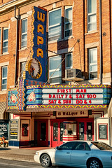 The WAPA (Pete Zarria) Tags: ohio movie palace theater film neon sign marquee indian native old