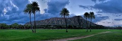 Diamond-Head 8 Image Panorama (Fletch in HI) Tags: nikon d5600 tamron 16300 8imagestitch diamondhead honolulu hawaii oahu trees people pano sky clouds grass