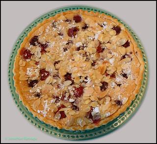 Home made Raspberry Bakewell Tart