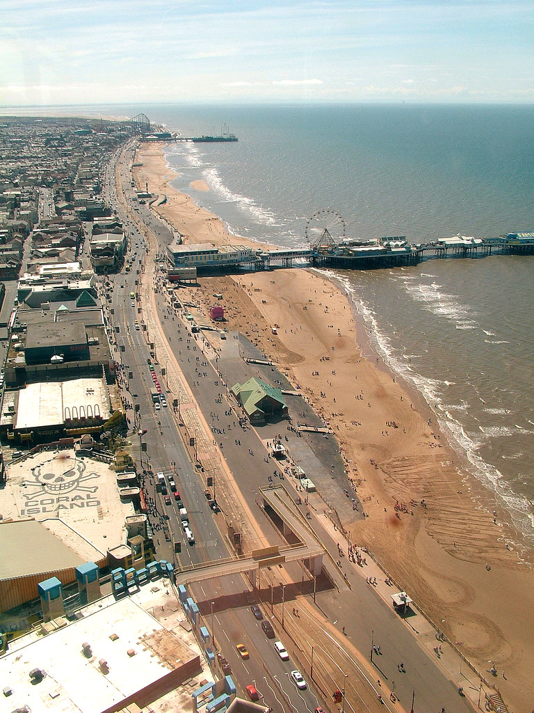 Blackpool promenade and beach