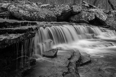 Collins Creek 2-13-19 (5centsphotos.com) Tags: 5dmkiv arkansas canon collinscreek hebersprings ef24105mmf4l waterfalls blackandwhite monochrome