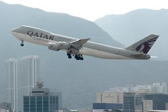 Qatar Airways Cargo (So Cal Metro) Tags: airline airliner airplane aircraft plane jet aviation airport hongkong hkg
