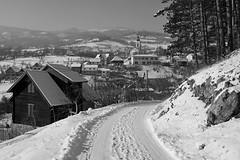 Road to village (superhic) Tags: winter zima snow sneg selo willage crkva blackwhite flickrsbest