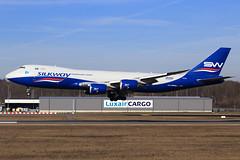 Silk Way Airlines  Boeing 747-83Q(F) VQ-BVC (widebodies) Tags: luxemburg luxembourg lux ellx widebody widebodies plane aircraft flughafen airport flugzeug flugzeugbilder silk way airlines boeing 74783qf vqbvc