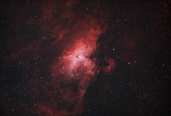 Eagle Nebula in Duo Narrowband (AstroBackyard) Tags: eagle nebula narrowband duo m16 deep sky astrophotography space telescope william optics flt 132