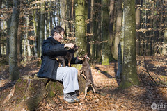 Moment de gâteries et de calinous. (Philippe Bélaz) Tags: nestor ooligan tamara animal animaux animauxdecompagnie balades bois brun calin chiens chocolat forêts promenade tendresse