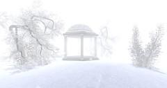 Blizzard (Roxy River) Tags: secondlife winter blizzard snow tree