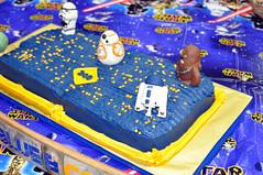 Cub Scouts Blue & Gold Ceremony Star Wars Cake 4 (rikkitikitavi) Tags: custom cake dessert vanilla chocolate buttercream fondant handsculpted handmade starwars r2d2 yoda stormtrooper chewbaca bb8 cubscout blueandgoldceremony bluegoldbanquet