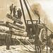 JACKS NW Kalkaska MI RPPC Lumberjacks at O-Lairy Logging Camp No 2 RARE Kalkaska County East of Sigma Steam Engine Workhorse Team BIG WHEEL Photographer Unknown Unsent 6