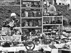 Flash Bang Wallop (Douguerreotype) Tags: candid london monochrome market blackandwhite people shop uk british street mono camera shopping city britain urban gb bw england