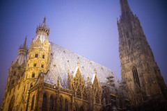 Stephansdom In The Snow (Michael Goldrei (microsketch)) Tags: leicam eu street austria icy darkness 35mm snow photos january leica above st 14 typ240 roof 19 photographer 2019 dom dark stephansdom photo night österreich mp cathedral winter snowing leicacamera januar asph time austrian vienna 35 perspective cold photography jan after stephens leicamtyp240 typ summilux 240 mp240 european leicalovers nighttime europe wien