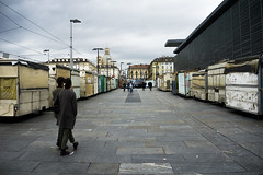 Not this day (Ga.Ros) Tags: town city turin architecture fuksas color italy torino market porta palazzo place mercato clouds urban architettura people street sky