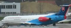 OM-BYB Fokker 100 Govt of Slovakia BRU 150319 (kitmasterbloke) Tags: brussels zaventem bru ebbr aircraft aviation jet belgium outdoor transport