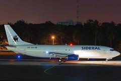 PR-SDU Sideral Air Cargo Boeing 737-4B6(SF) (2) (RafaelBateraSSA) Tags: ssa sbsv salvador night boeing airbus nikon sideral avianca jordan tap copa airlines gulfstream g450 737f a320 767 a330 planes spotter