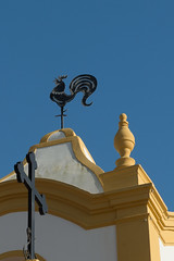 And The Rooster Crowed (Cori Mordaunt) Tags: rooster stvincentsanglicanchurch luz portugal algarve weathervane church nikon d600