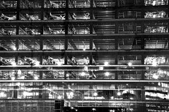Construction Site, Yokohama, Japan (runslikethewind83) Tags: japan construction urban city monochrome blackandwhite lights pentax yokohama building bw 일본