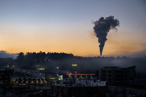 coal at dawn