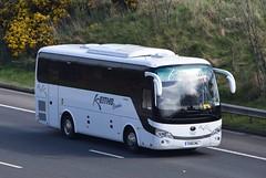 YG18CWL  Keiths, Newcastle (highlandreiver) Tags: yg18cwl yj18 cwl keiths coaches newcastle upon tyne yutong bus coach m6 wreay carlisle cumbria