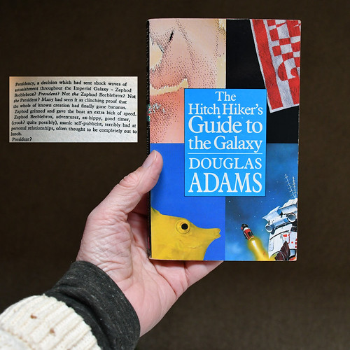 Douglas Adams book fan photo