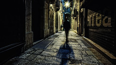 Valletta selfie - wm 16x9 2k (cleansurf2) Tags: malta vallentta street shadow silhouette blur black night nightscape cityscape cinamatic longexposure lowkey lonely walk widescreen wallpaper screensaver 16x9 2k hires leadinglines light flare sony surreal ilce7m2 1635mm wideangle white people person urban texture resolution emount explore europe glow fantasy mood mirrorless minimalism background vanishingpoint colour color cool contrast exposure