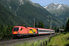 1116 064, EC 111 ( München > Klagenfurt ). Mallnitz-Hintertal (M. Kolenig) Tags: 1116 tauernbahn berg eurocity