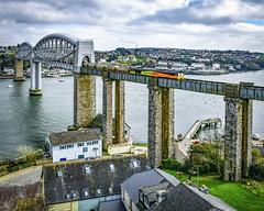 66846 entering Cornwall (robmcrorie) Tags: 66846 colas rail cement aberthaw moorswater royal albert bridge saltash tamar river nikon d850