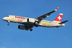 Swiss Airbus A220-300 HB-JCA (Fête des Vignerons Livery) (Arthur CHI YEN) Tags: lfbd bordeaux swiss airbus a220300 hbjca fêtedesvignerons cs300 bombardier bcs3 a220 fêtedesvigneronslivery