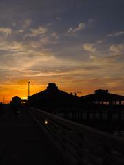 Corpus Christi - Sunset from Bob Hall Pier (Drriss & Marrionn) Tags: corpuschristi texas usa water sea bay ocean coast coastline people beach waterfront padreisland bobhallpier eveningcolours sky sunset pier sun eveningsky clouds