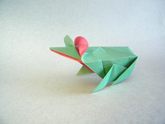 Frog - Lee Armstrong (Rui.Roda) Tags: origami papiroflexia papierfalten sapo rã rana grenouille frog lee armstrong