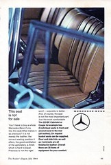 1964 Mercedes-Benz 220 SE W111 Coupe Cabriolet This Seat Is Not For Sale Aussie Original Magazine Advertisement (Darren Marlow) Tags: 1 2 4 6 9 19 64 1964 220 w111 m mercedes b benz s sedan saloon c car cool collectible collectors classic a automobile v vehicle g german germany e europe european 60s