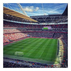 North London Derby (peterphotographic) Tags: photo02032019132052 northlondonderby apple iphone iphonex x ©peterhall wembley northlondon london england uk britain square instagram thfc spurs tottenhamhotspur arsenal derby football soccer sport stadium sunny epl
