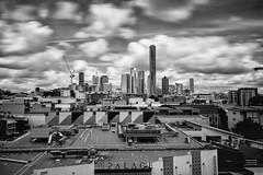 Brisbane from the Valley (Leighton Wallis) Tags: sony alpha a7r mirrorless ilce7r 1635mm f40 emount brisbane brisvegas fortitudevalley qld queensland australia blackandwhite bw bigstopper longexposure city cityscape clouds movement