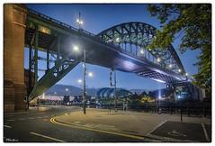Morning Blues in Newcastle UK (stblackburn) Tags: tyne tynequayside toon bridge newcastle northeast dawn quayside uk morning