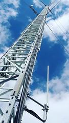 Guyed Tower (feldweg2008) Tags: guyed tower sendemast gittermast abgespannt lattice latticeclimbing interesting pylon grid technik strommast art hoch klettersteig arbeit monteur wartung rise sky blue himmel kunst gittersteiger category